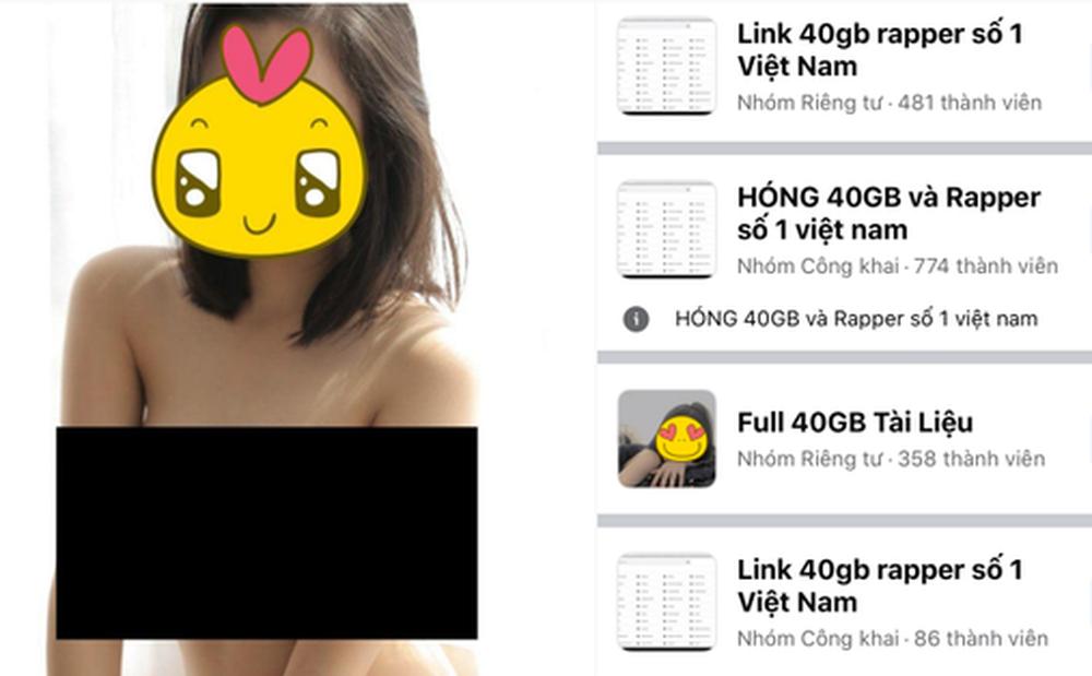 Đáng lên án: Hàng loạt group share kho ảnh nóng 40GB mọc lên như nấm, 'rapper số 1 Việt Nam' chễm chệ ngay tên group