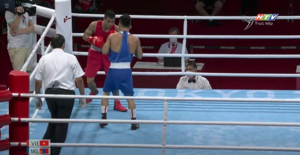 Võ sĩ Việt Nam thua tâm phục cao thủ Mông Cổ, khép lại hành trình kỳ diệu tại Olympic - Ảnh 1.