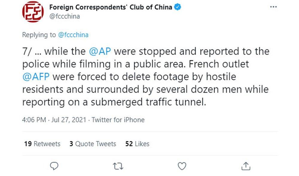 FCCC: Hàng loạt phóng viên bị dọa giết vì đưa tin lũ lụt Trung Quốc - Ảnh 1.