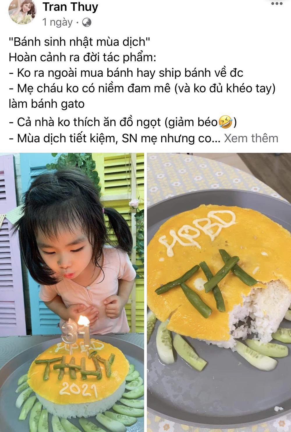Con gái khóc thét khi nhìn thấy bánh sinh nhật mùa Covid mẹ và chị làm tặng, bố đảm đang ra tay trợ giúp  - Ảnh 7.