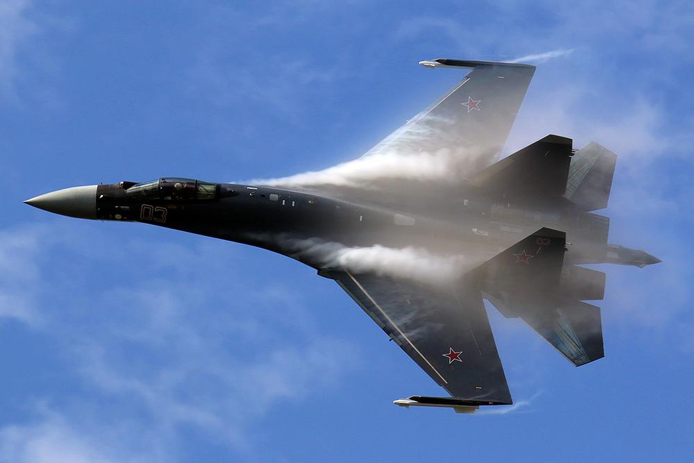 NÓNG: Rơi máy bay chiến đấu Su-35 của Nga - Ảnh 1.