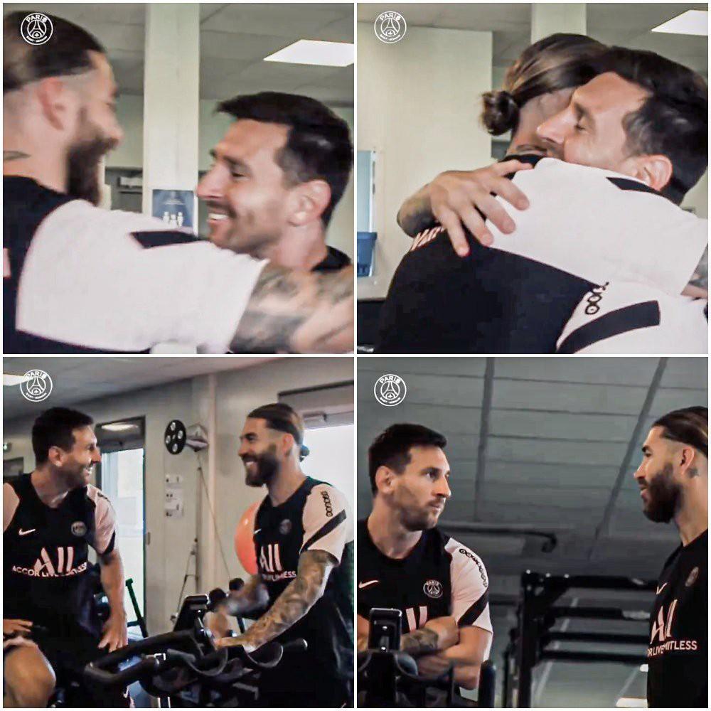 Điều khó tin bậc nhất làng bóng đã xảy ra: Messi và Ramos trở thành đồng đội, ôm nhau thắm thiết - Ảnh 1.