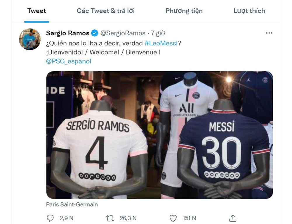 Gửi thông điệp ngắn gọn tại PSG, Ramos khiến Messi động lòng, sẵn sàng bỏ qua mọi hiềm khích - Ảnh 2.