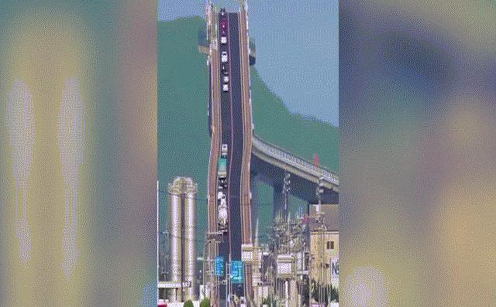 """Đằng sau cây cầu """"dựng đứng như vách núi"""" ở Nhật Bản"""