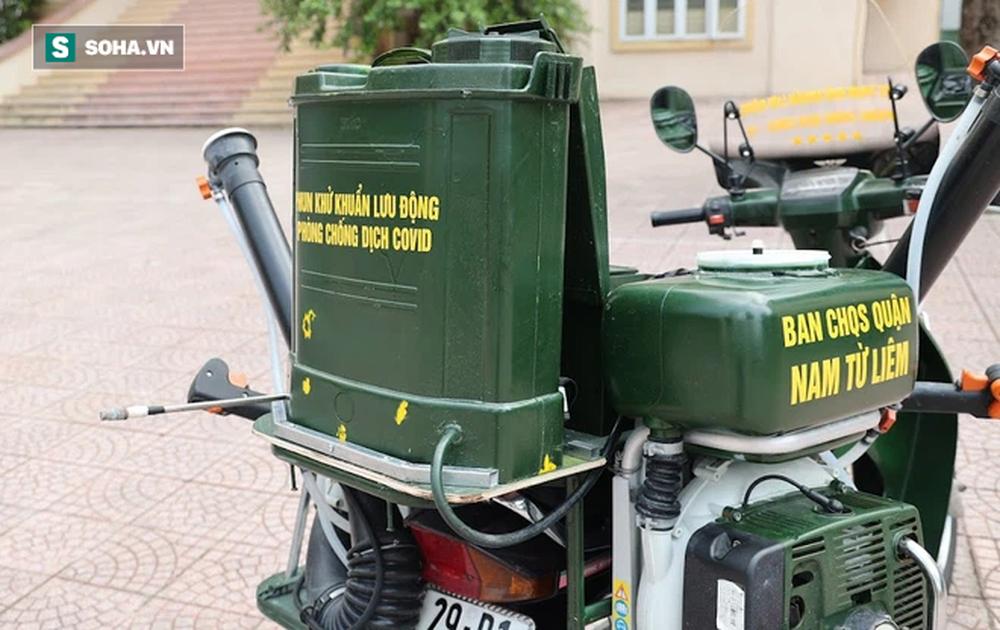 Chế tạo xe máy phun khử khuẩn lưu động, công suất tương đương sức 100 người - Ảnh 6.
