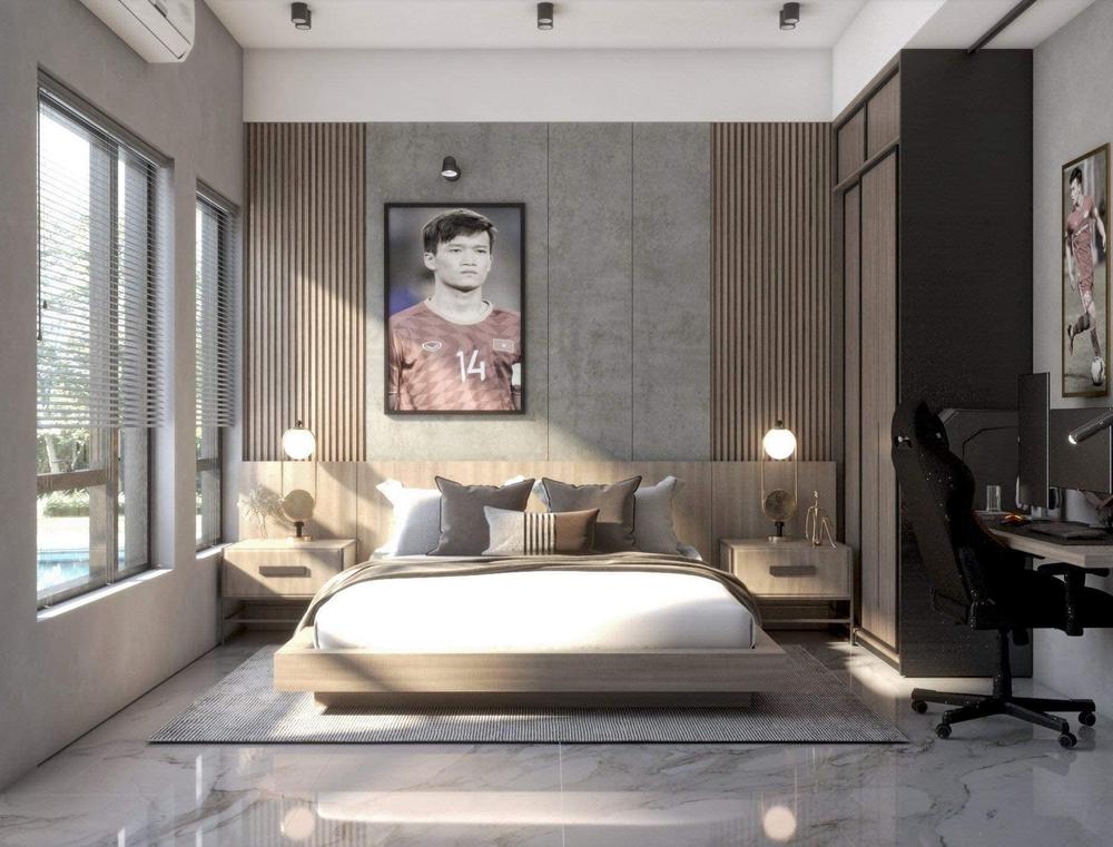 Hoàng Đức khoe phòng ngủ đầy tinh tế ở nhà mới, đẹp không kém phòng siêu sao quốc tế - Ảnh 1.