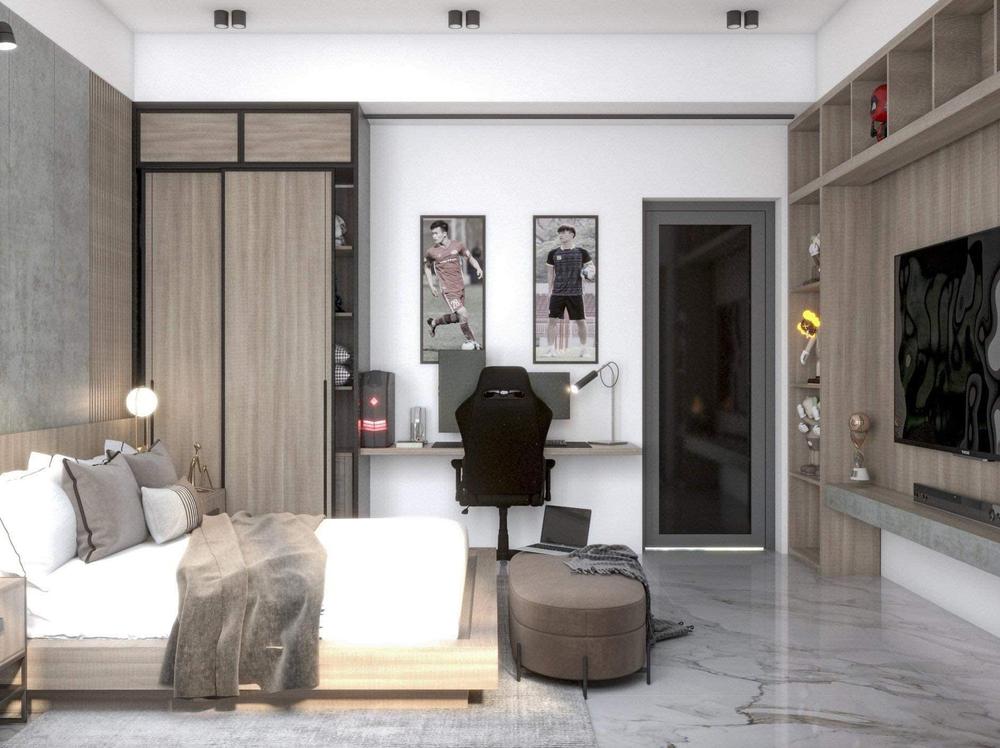 Hoàng Đức khoe phòng ngủ đầy tinh tế ở nhà mới, đẹp không kém phòng siêu sao quốc tế - Ảnh 2.