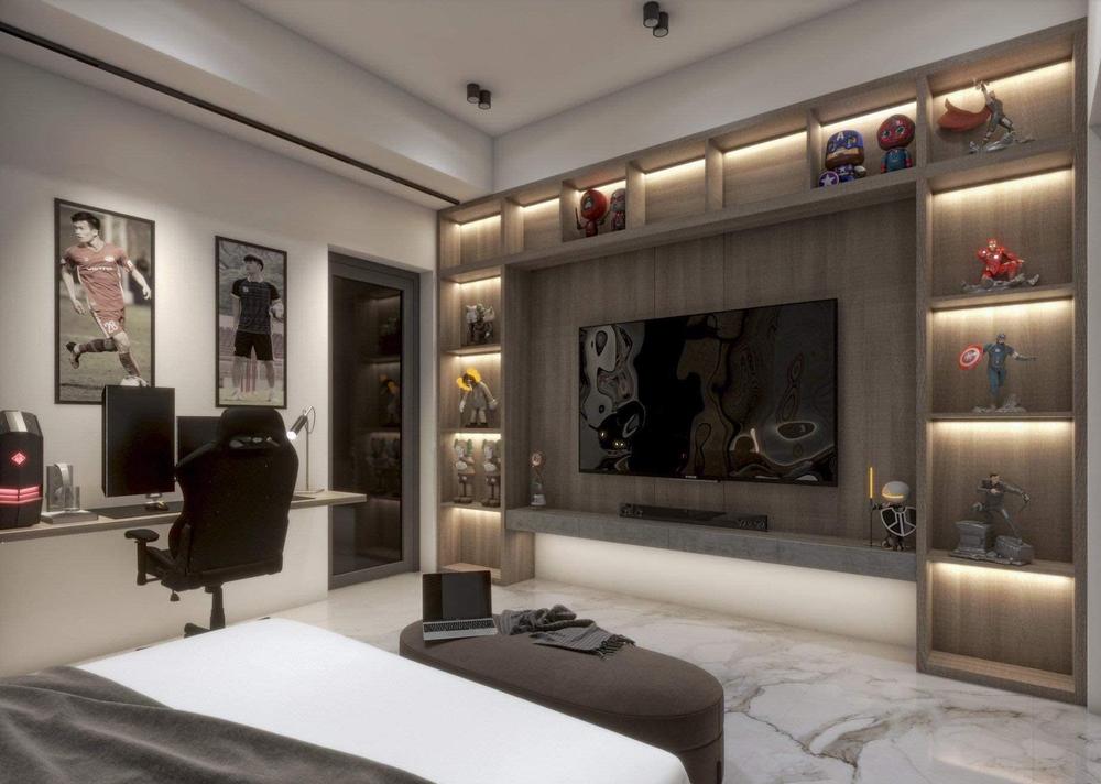 Hoàng Đức khoe phòng ngủ đầy tinh tế ở nhà mới, đẹp không kém phòng siêu sao quốc tế - Ảnh 4.