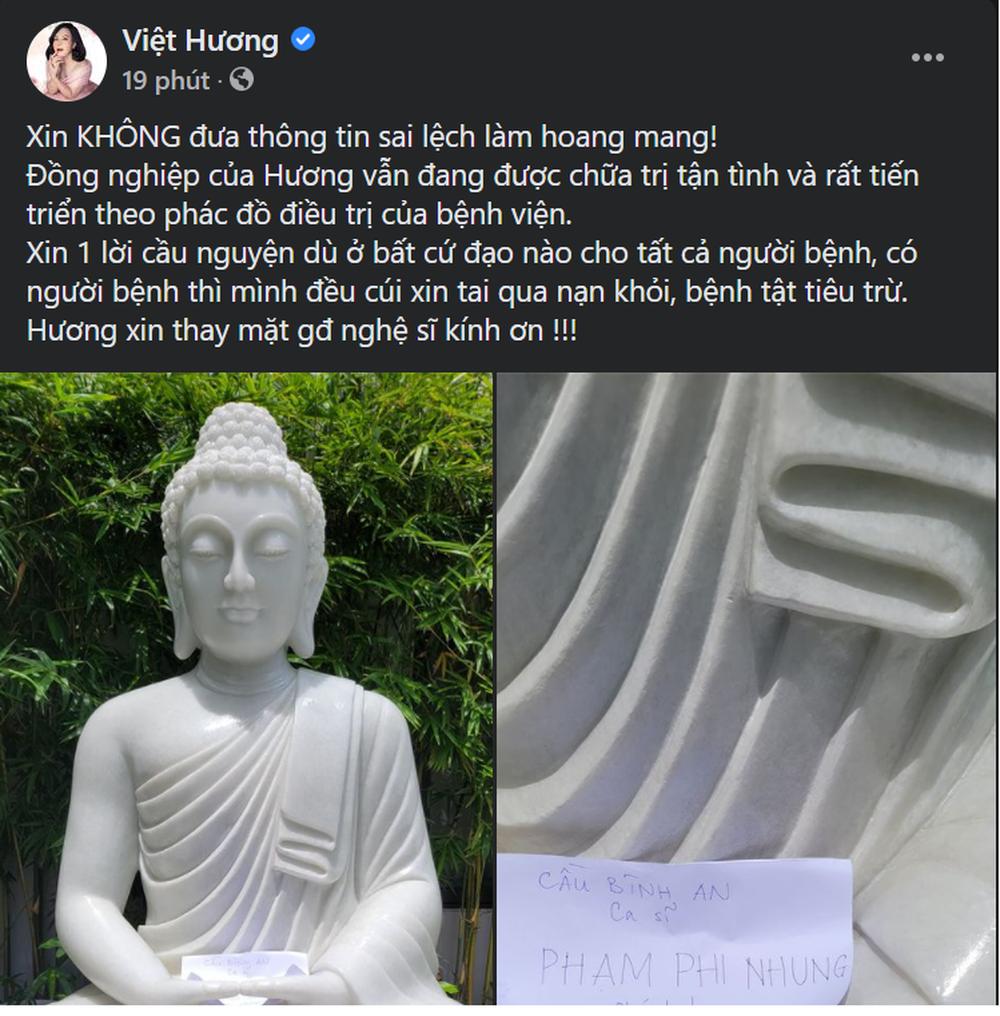 Sức khỏe Phi Nhung: Xuân Lan tiết lộ tình trạng hiện tại, Đàm Vĩnh Hưng viết lời kêu gọi cầu nguyện - Ảnh 3.