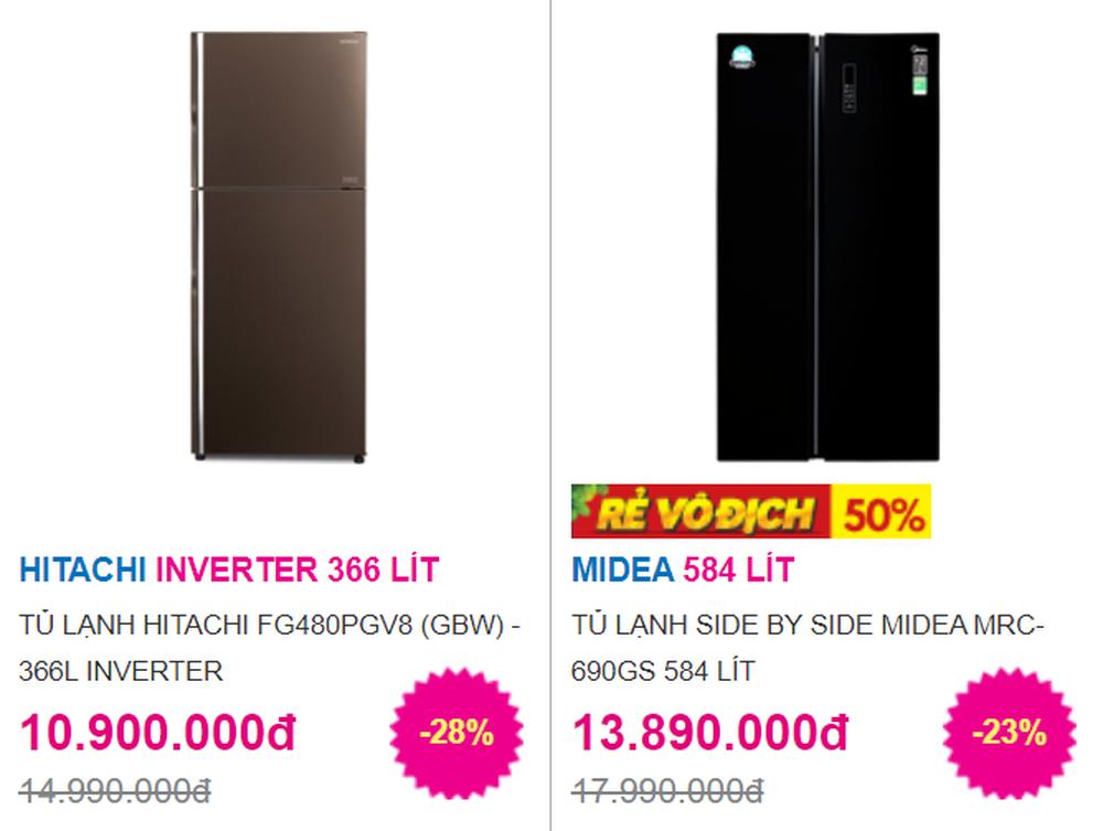 5 mẫu tủ lạnh dung tích lớn tới 600 lít giảm giá sốc, có mẫu rẻ hơn chục triệu - Ảnh 1.