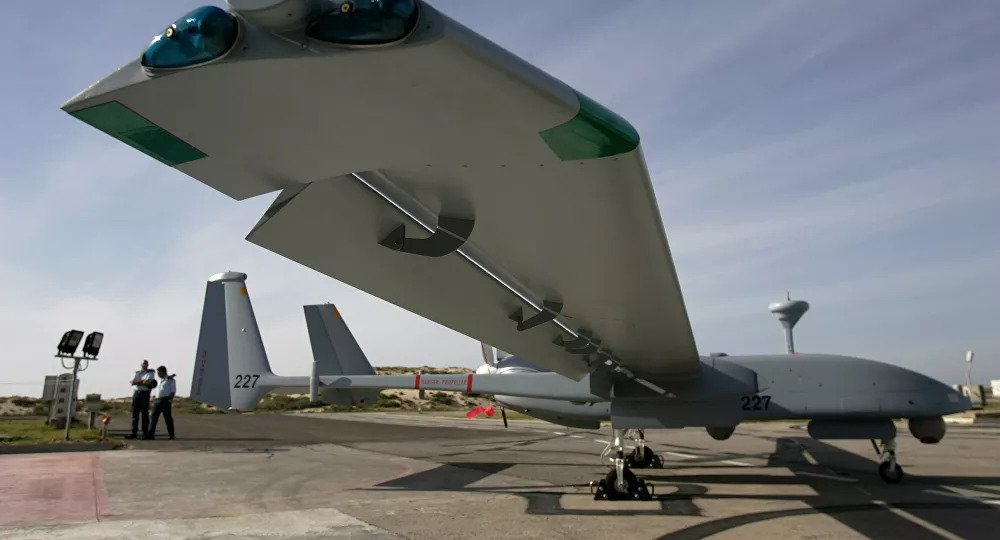 Heron unmanned aerial vehicle (UAV) of the Israeli Army.