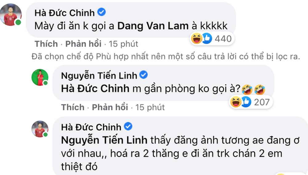 Vừa đăng ảnh thân thiết, Tiến Linh bị Đức Chinh tố đi ăn mà không gọi Văn Lâm - Ảnh 3.