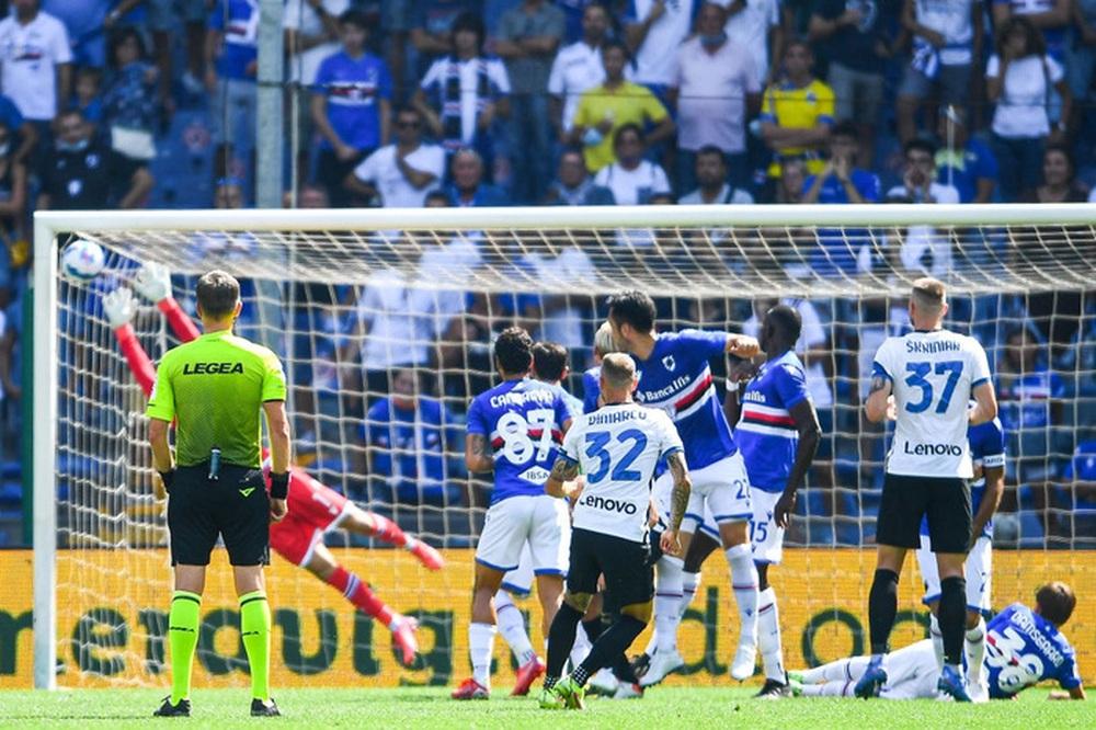 Công làm thủ phá, Inter Milan bất lực để Sampdoria cầm chân với tỷ số 2-2 sau 90 phút - Ảnh 2.