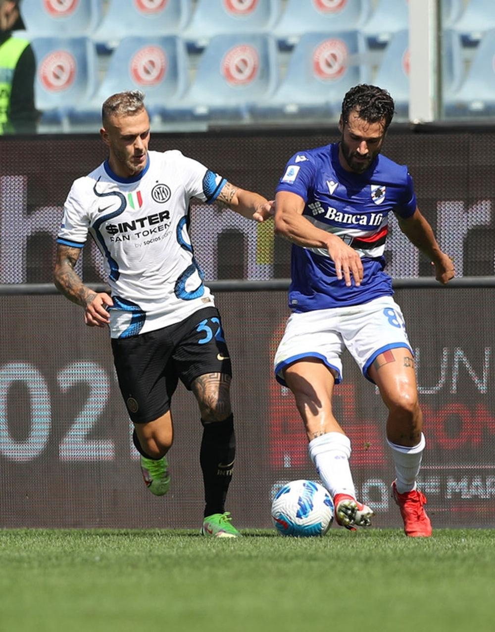 Công làm thủ phá, Inter Milan bất lực để Sampdoria cầm chân với tỷ số 2-2 sau 90 phút - Ảnh 8.