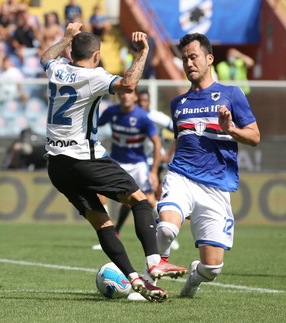 Công làm thủ phá, Inter Milan bất lực để Sampdoria cầm chân với tỷ số 2-2 sau 90 phút - Ảnh 9.