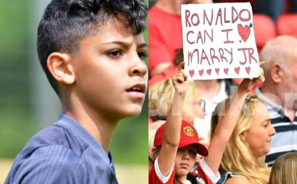 Fan nhí MU đòi cưới con trai cả Ronaldo