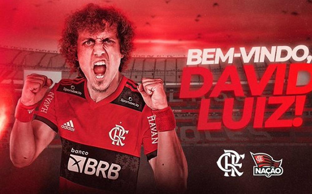 Sau 3 tháng rời Arsenal, David Luiz đã có bến đỗ mới