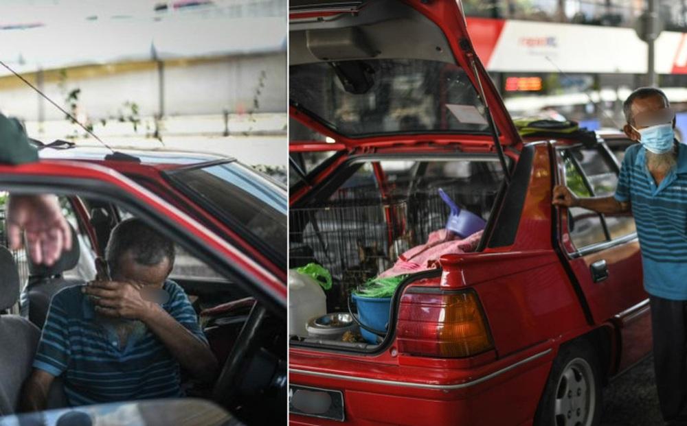 """Đến gặp ông cụ sống dưới gầm cầu, ngó vào xe thấy 1 thứ """"mạnh thường quân"""" lập tức quyết định giúp đỡ"""