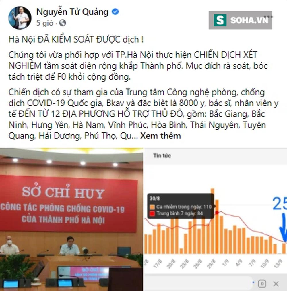 CEO Nguyễn Tử Quảng: Sẽ triển khai nền tảng truy vết công nghệ để giúp Thủ đô quét nốt các F0 còn lại - Ảnh 2.