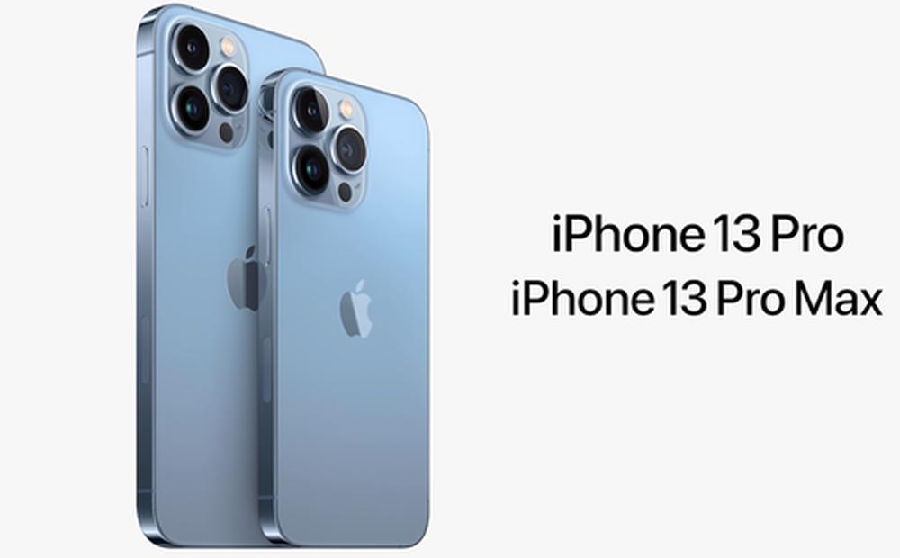 iPhone 13 Pro và iPhone 13 Pro Max chính thức ra mắt: Màn hình ProMotion 120Hz, bộ nhớ trong 1TB, quay video xoá phông, thêm màu xanh 'Sierra Blue'