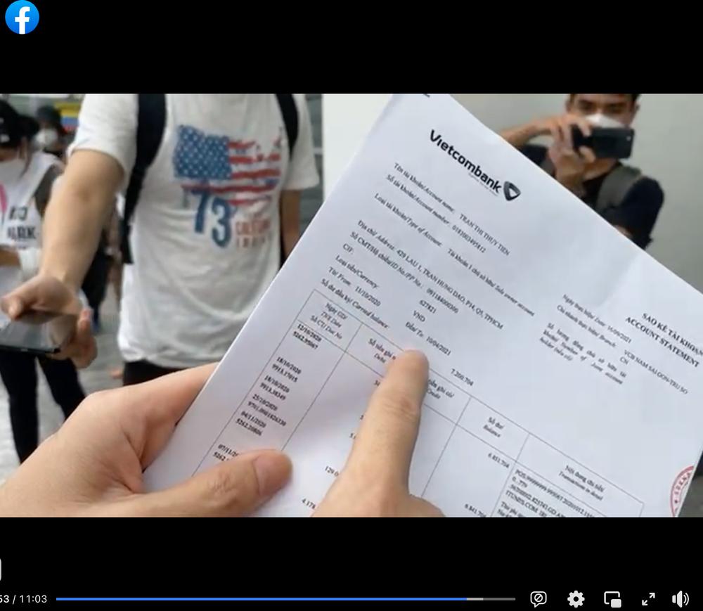 """Công Vinh tung sao kê tài khoản bị """"bóc phốt"""" trên MXH: Chuyên dùng để… đi chợ - Ảnh 3."""