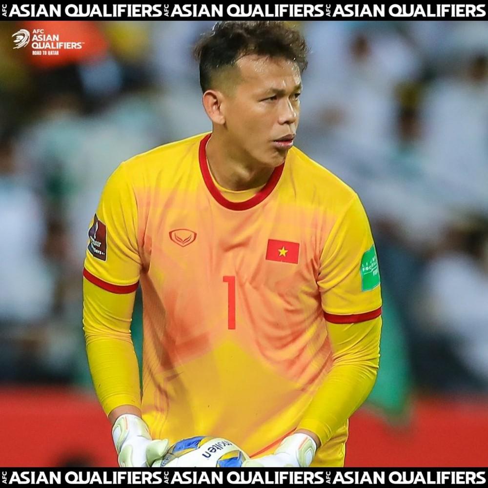 AFC vinh danh 'thủ môn số 1 ĐT Việt Nam' ở Vòng loại World Cup - Ảnh 1.