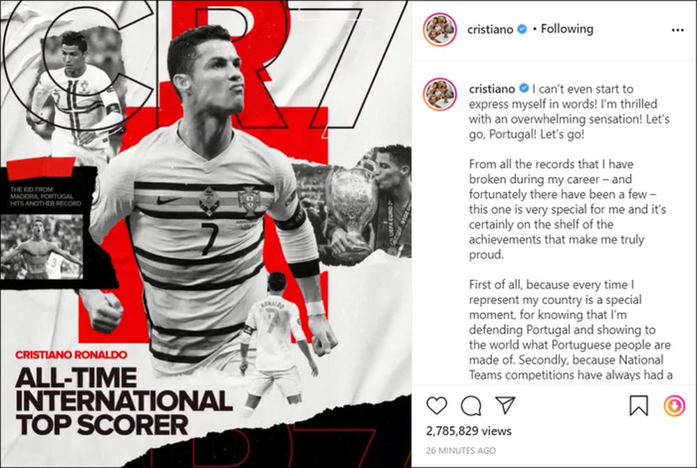 Ronaldo viết tâm thư xúc động sau khi trở thành chân sút vĩ đại nhất cấp ĐTQG - Ảnh 1.
