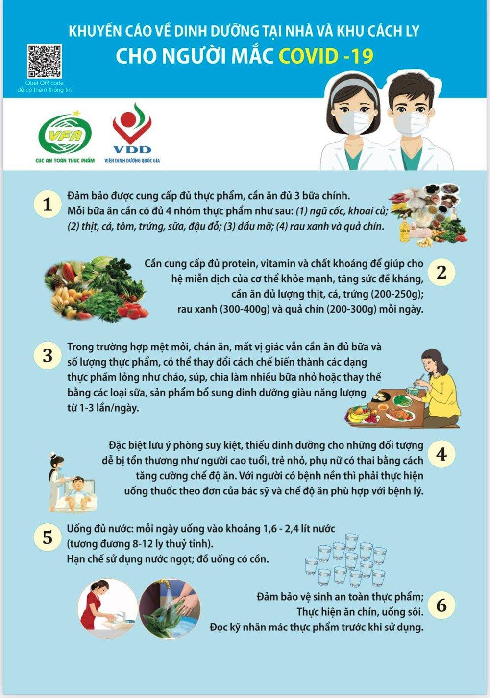 Bộ Y tế khuyến cáo về dinh dưỡng và thực phẩm giúp người mắc COVID-19 nhanh chóng bình phục - Ảnh 1.
