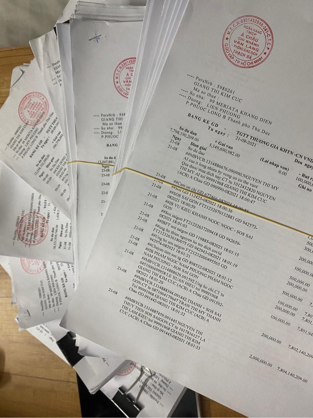 Giang Kim Cúc công bố sao kê tốn hơn 2,5 triệu tiền giấy in: Minh bạch tài chính không hề khó, mong mọi người mở lòng bao dung - Ảnh 1.