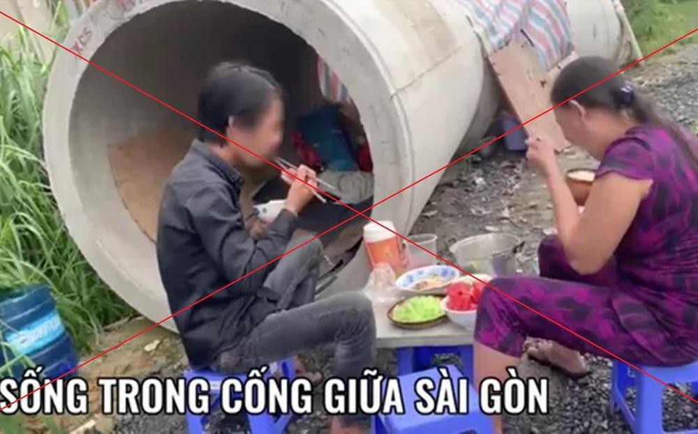 Sự thật câu chuyện 'sống trong cống' giữa Sài Gòn