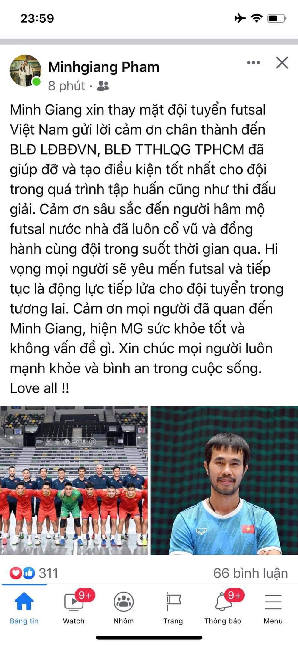 NÓNG: HLV tuyển futsal Việt Nam không may dương tính với Covid-19 - Ảnh 2.