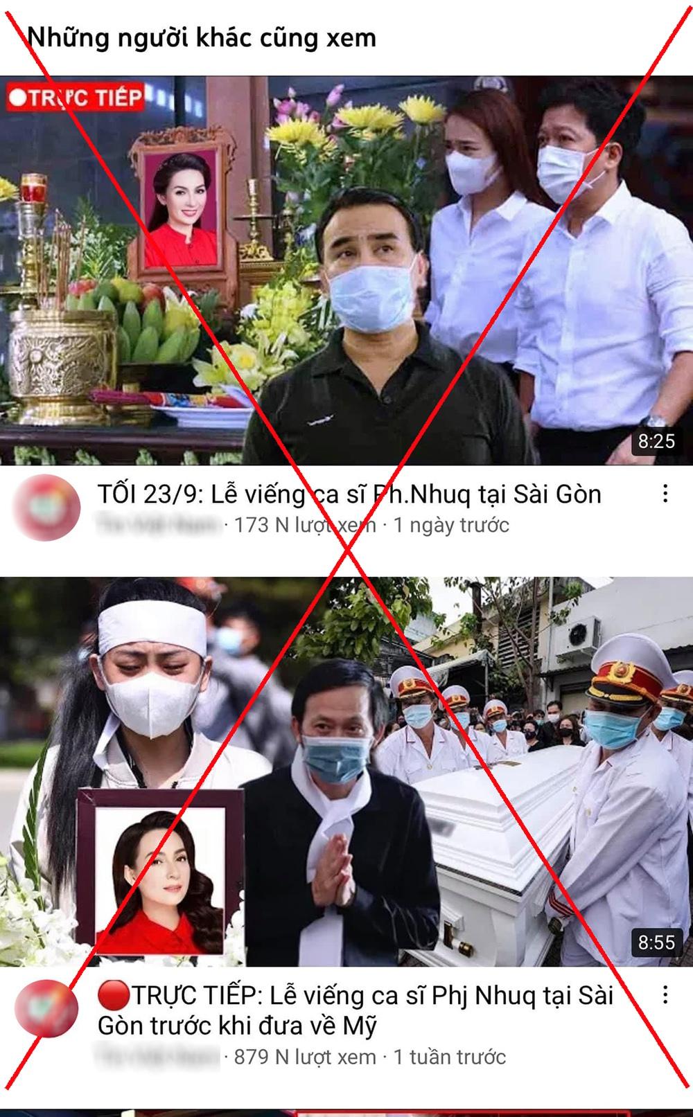 Phẫn nộ việc tung tin thất thiệt về Phi Nhung của nhiều youtuber - Ảnh 3.