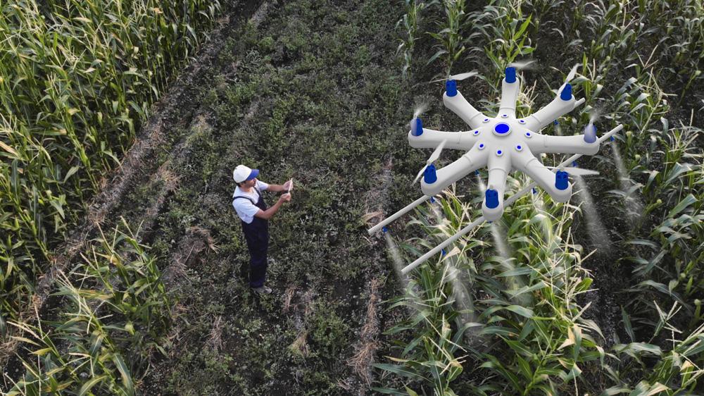 Cảnh tượng máy móc thu hoạch nông sản tại nông trại 'không người lái' - Ảnh 6.
