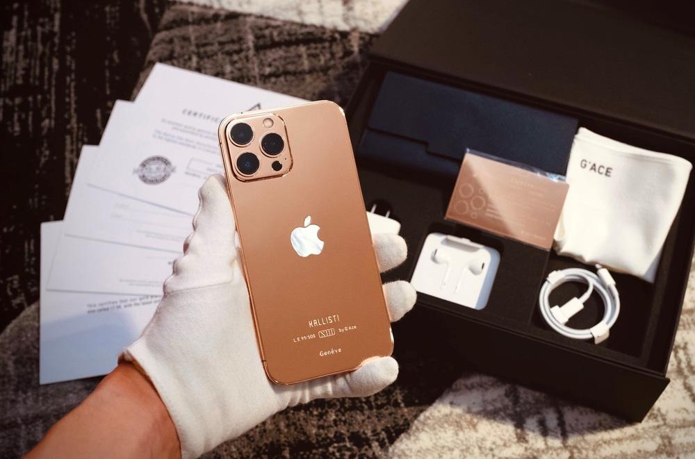 """Chi tiết iPhone 13 Pro Max bản mạ vàng và kim cương siêu """"sang chảnh"""" giá hơn 130 triệu đồng tại Việt Nam - Ảnh 9."""