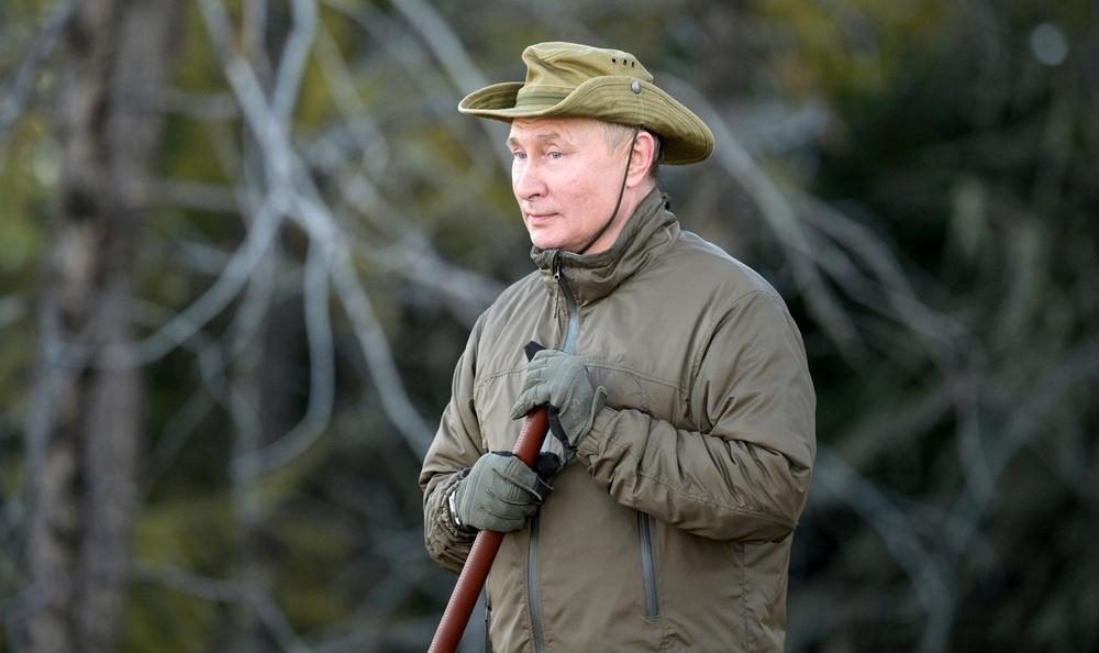 Gấu nâu tới sát lều của ông Putin: Khoảnh khắc nguy hiểm ngàn cân treo sợi tóc - Ảnh 2.