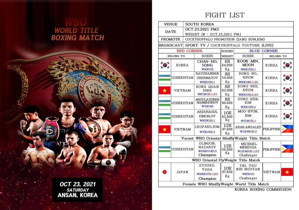Hình ảnh: Minh Phát và Thu Nhi sẽ thượng đài tranh đai WBO số 2