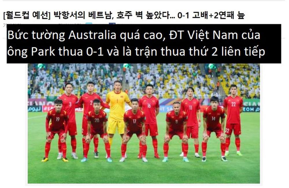 Báo Hàn Quốc: Bức tường Australia quá cao với tuyển Việt Nam - Ảnh 1.