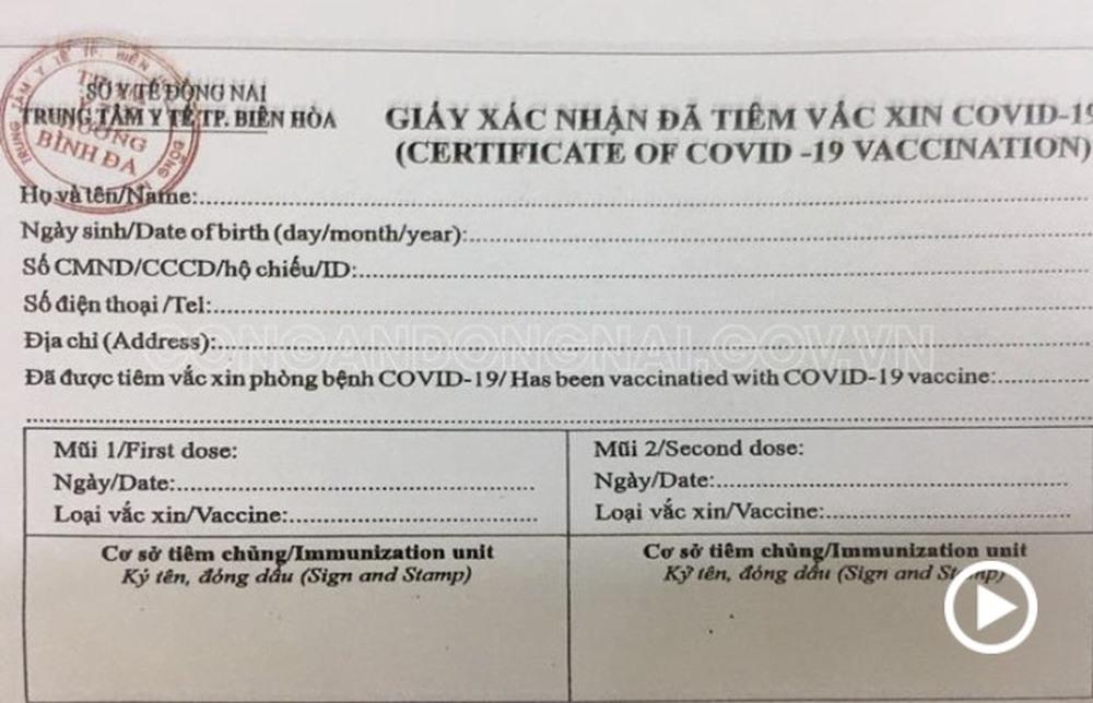 Đồng Nai: Chủ tiệm photocopy biến tờ A4 thành giấy đi đường, giấy chứng nhận tiêm vaccine - Ảnh 1.