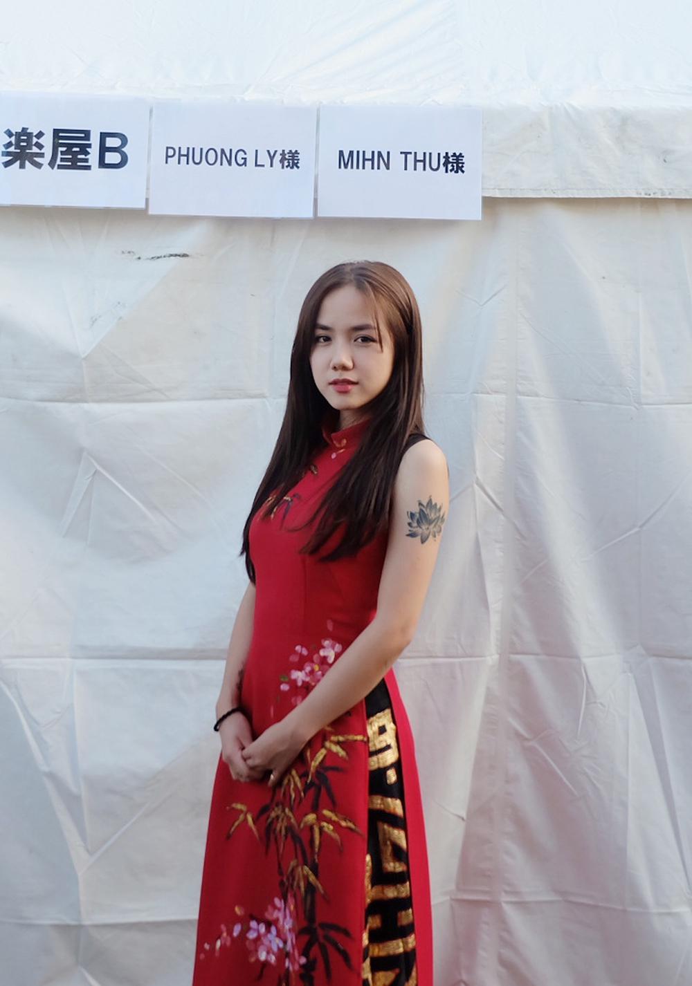 Em gái Phương Linh cá tính với áo dài cách điệu - Ảnh 7.