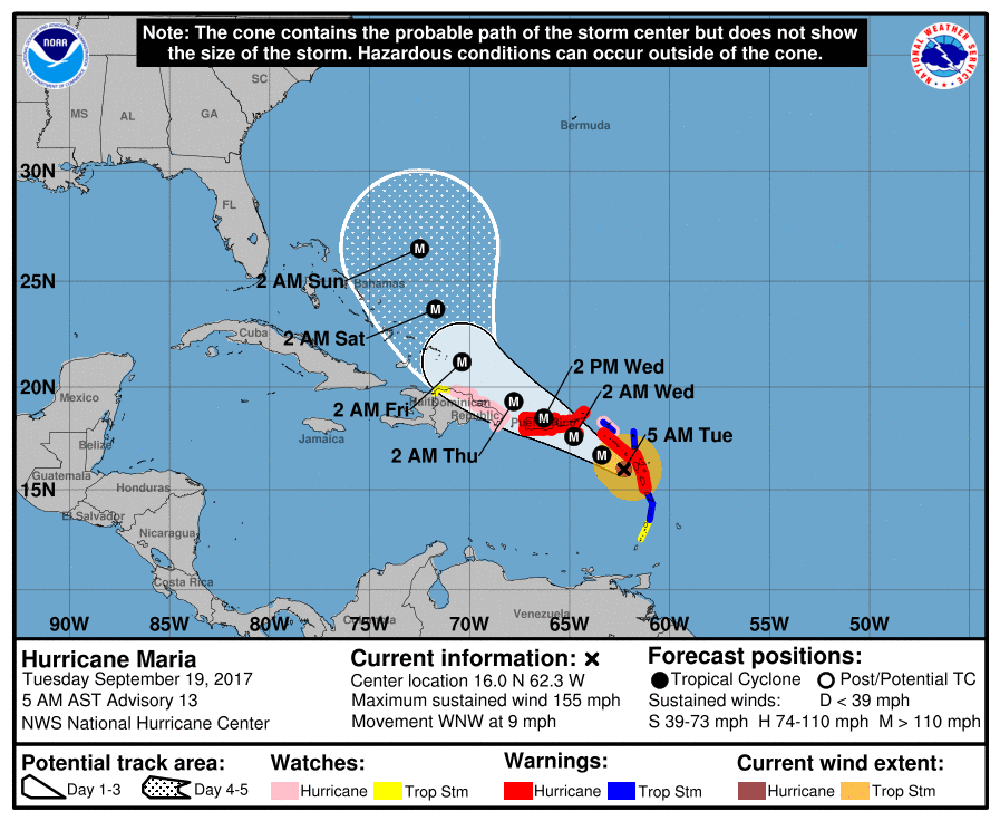 Siêu bão quái vật mạnh nhất 85 năm tấn công vùng Caribe: So với Haiyan cũng chẳng kém gì - Ảnh 1.
