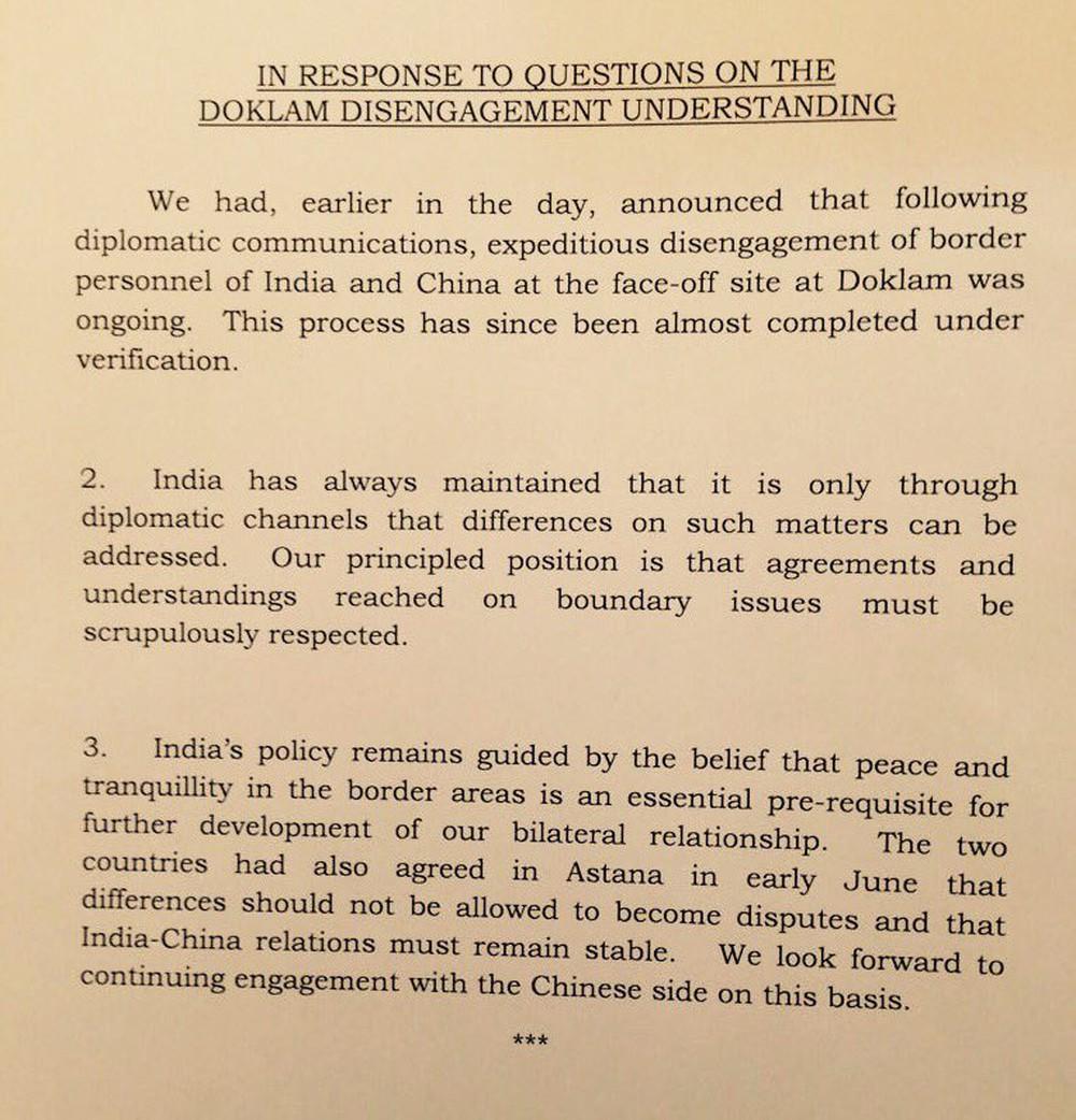 Ấn Độ: Để TQ giữ sĩ diện, Bắc Kinh  muốn nói sao thì nói dù thực tế 2 bên cùng rút quân - Ảnh 1.