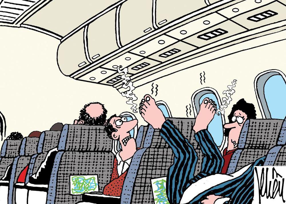 HÍ HỌA: Ai bảo đi máy bay là sướng? - Ảnh 2.
