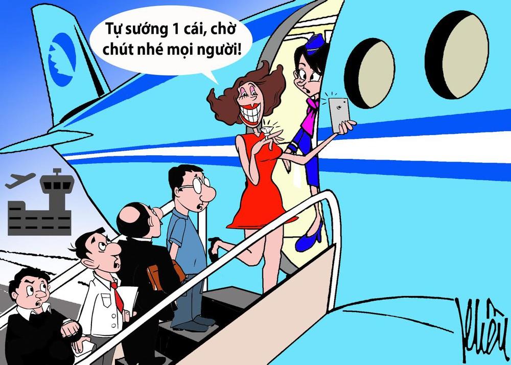 HÍ HỌA: Ai bảo đi máy bay là sướng? - Ảnh 3.