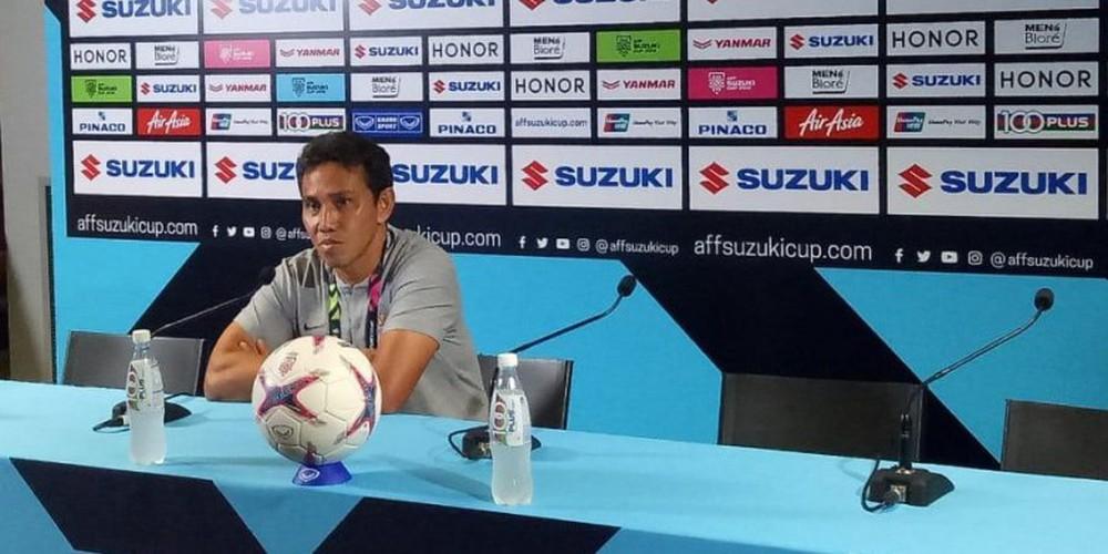 """HLV Indonesia bỗng dưng """"mất tích"""" ở buổi họp báo kỳ quặc sau trận thua đau Singapore - Ảnh 1."""