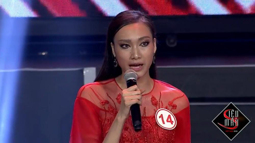 Bật cười trước màn trả lời ứng xử ngô nghê của thí sinh Siêu mẫu Việt Nam - Ảnh 4.