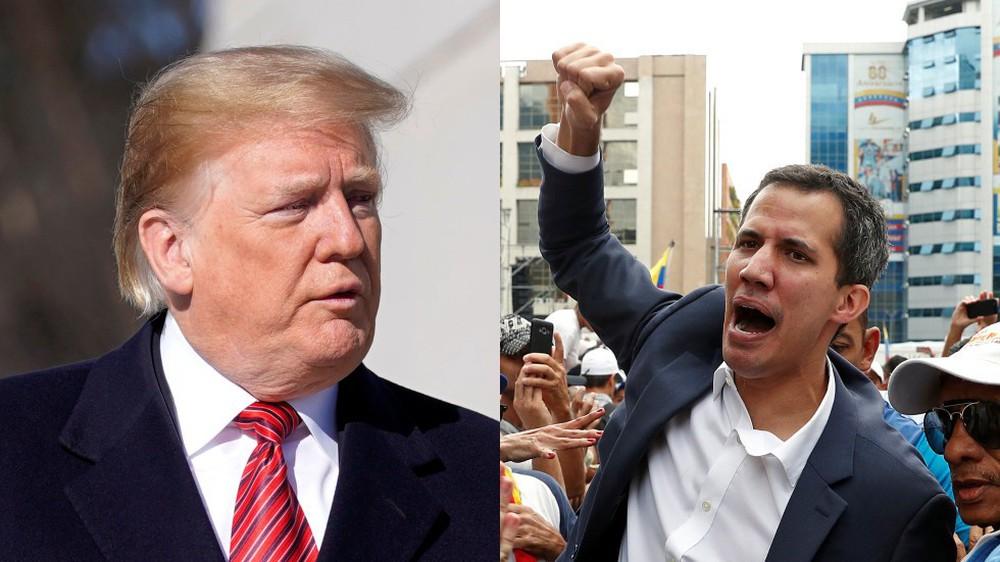 Caracas chấn động, ông Trump thừa nhận và ủng hộ mạnh mẽ Tổng thống lâm thời tự xưng của Venezuela - Ảnh 1.