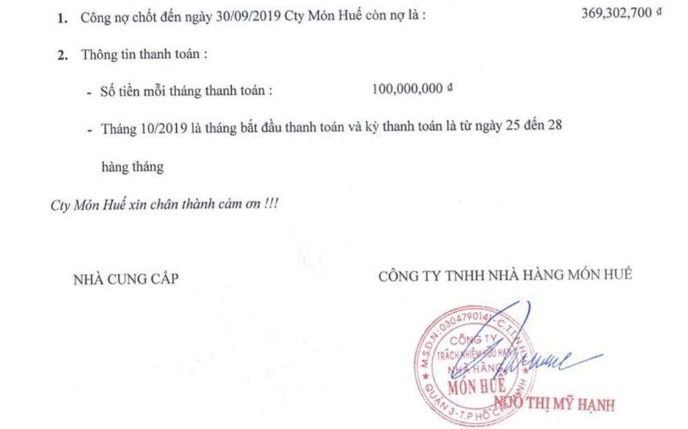 Nợ tiền tỷ, Món Huế bất ngờ chi vài chục triệu trả cho nhà cung cấp - Ảnh 2.