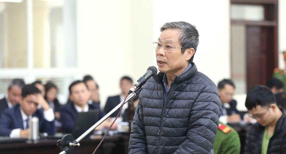Vì sao cựu Bộ trưởng Nguyễn Bắc Son cùng 2 bị cáo xin khoan hồng cho bị cáo Phạm Nhật Vũ? - Ảnh 1.