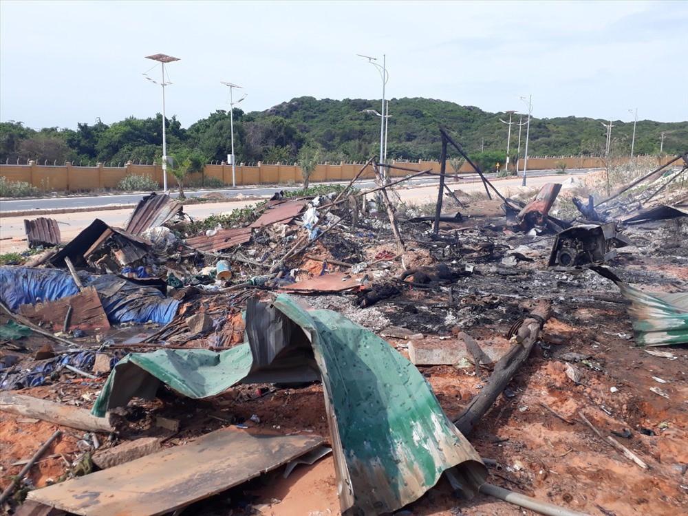 Hiện trường vụ nổ khu vực thi công sân golf tại Cam Ranh - Ảnh 1.