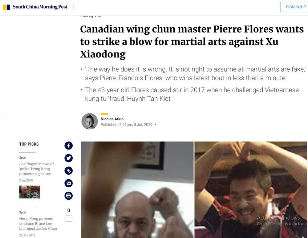 Nóng: Báo Trung Quốc lần đầu tiên đăng tin Flores thách đấu Từ Hiểu Đông - Ảnh 1.